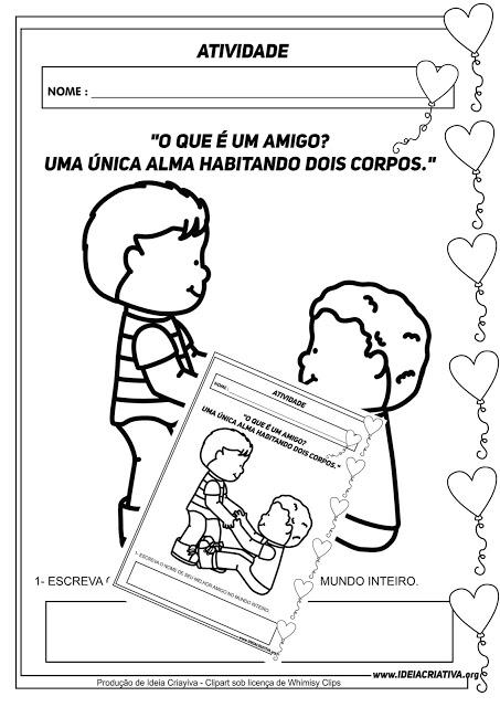 Atividade Dia Do Amigo Para Educacao Infantil