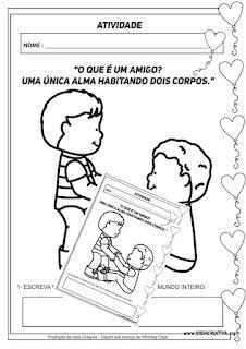 Atividade para imprimir grátis para o Dia do Amigo