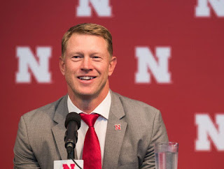 Scott Frost giving the interview