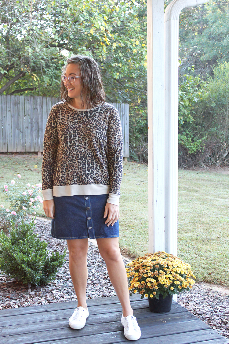 Leopard Print Union St. Sweater // Sewing For Women