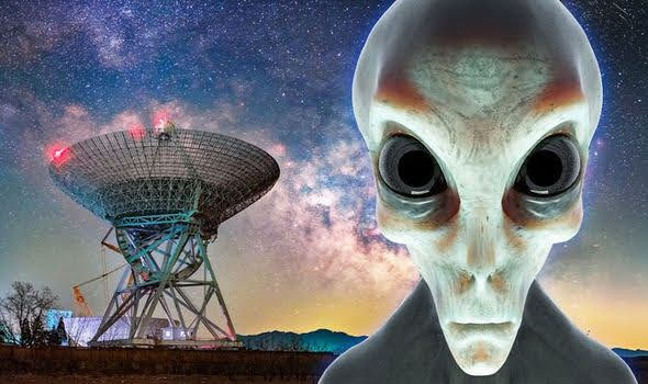 Alien contact or signal from the future from humans.
