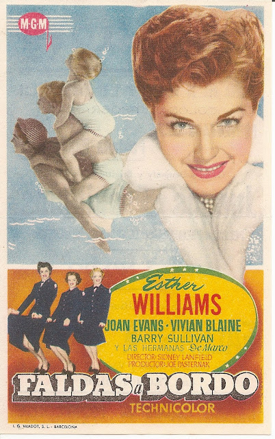 Programa de Cine - Faldas a Bordo - Esther Williams - Joan Evans - Barry Sullivan