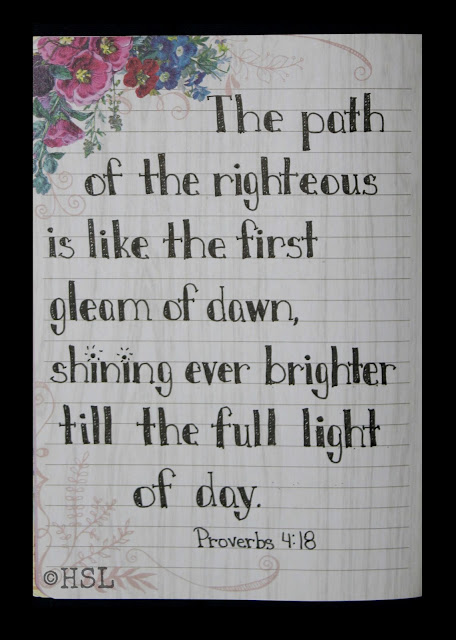Scripture Writing, Proverbs 4:18