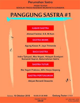 Prodi Teater STKW Surabaya Gelar Panggung Sastra #1
