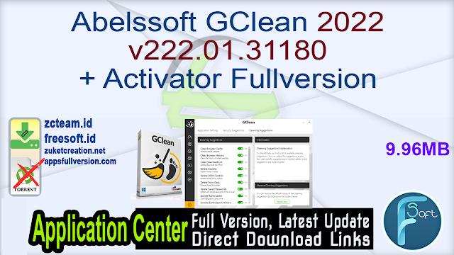 Abelssoft GClean 2022 v222.01.31180 + Activator Fullversion