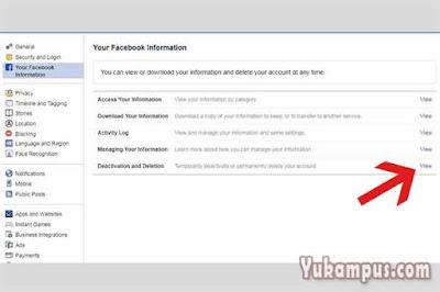 nonaktifkan facebook permanen