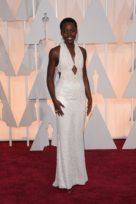 a861500113c5 Lupita Nyong o wearing Calvin Klein at the Golden Globes. I think this was probably  one of my favorite gowns of the whole 2015 red carpet season.