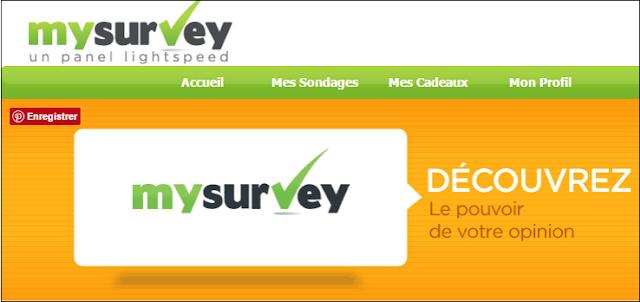 Sondages Rémunérés : MySurvey