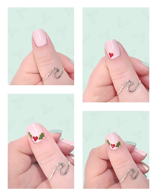 Easy Step By Step Holly Nail Art