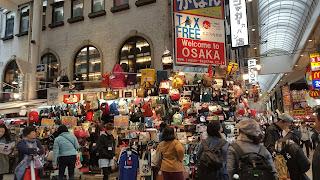 Membeli tas Anello di Osaka