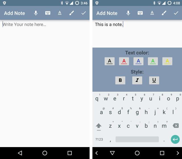 Aplikasi Notepad di Android