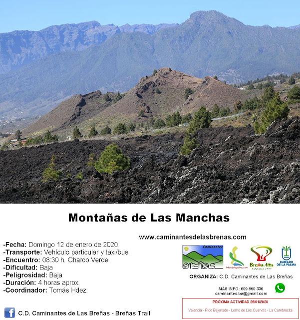 Caminantes de Las Breñas, Domingo 12 de Enero: Montañas de Las Manchas
