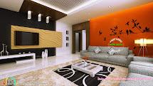 Living Room Ladies Sitting And Bedroom Interiors - Kerala