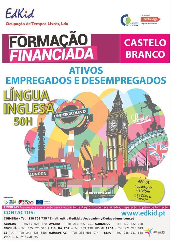 Curso gratuito de Inglês em Castelo Branco
