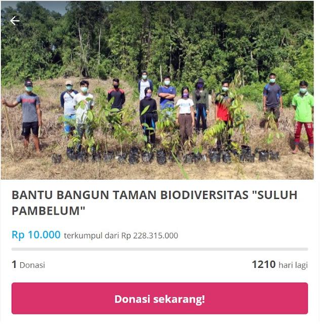 Cara donasi Bangun Taman Biodiversitas