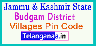 Budgam District Pin Codes in Jammu & Kashmir State