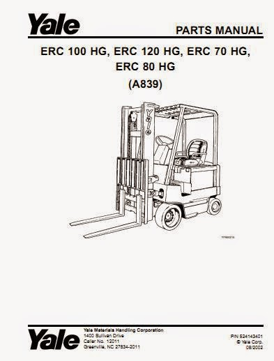 Free Automotive Manuals: Yale Electric For Model ERC-HG-70