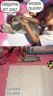 calcando al gato humor