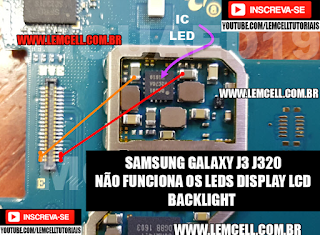 Samsung Galaxy J3 J320  Tela Preta, Escura, Não acende Leds Display   Samsung Galaxy J3 J320 Backlight Solution Ways