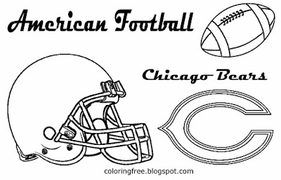 NFC Chicago Bears American football drawing pictures for teenagers USA sport game to print and color
