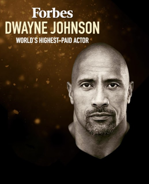 Dwayne John Makes It To Forbes List Of World Highest Paid Actors.