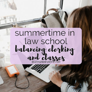 The summer after my 2L year has been nothing but work and school. I'm sharing my experiences, my schedule, and how I manage to squeeze in some extra pro bono hours in | brazenandbrunette.com