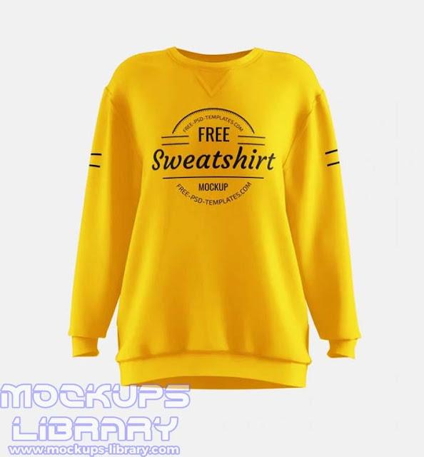 women sweatshirt mockup