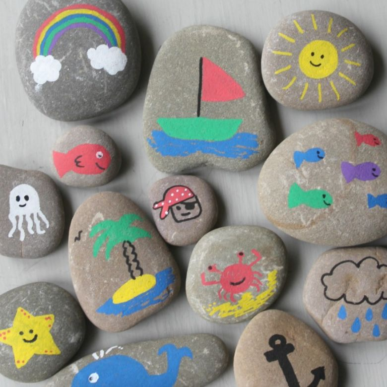sea rock painting ideas