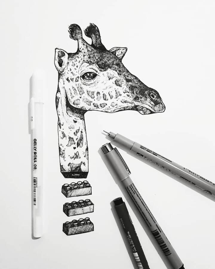 10-Lego-giraffe-Juan-Velilla-Drawings-www-designstack-co