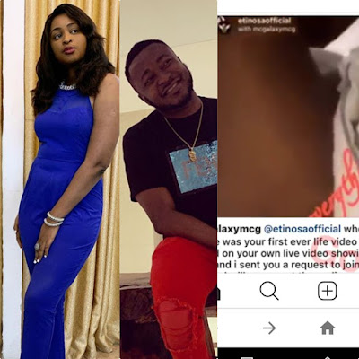 MC galaxy repost another Actress Etinosa Nu-de video  after their heated argument to proof she wasn't drunk
