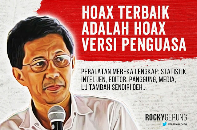 'Gak Nyangka! Rocky Gerung Bikin Kaget Karni Ilyas di ILC Karean Protes Pemerintah Soal Hoax