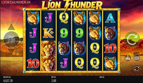 Main Slot Gratis Indonesia - Lion Thunder (Blueprint Gaming)