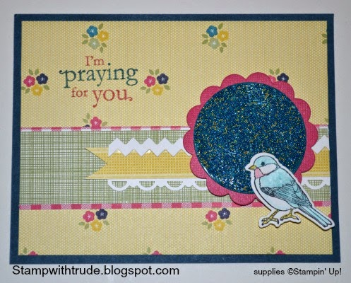 http://stampwithtrude.blogspot.com Stampin' Up! greeting card by Trude Thoman Blessing from Heaven stamp set