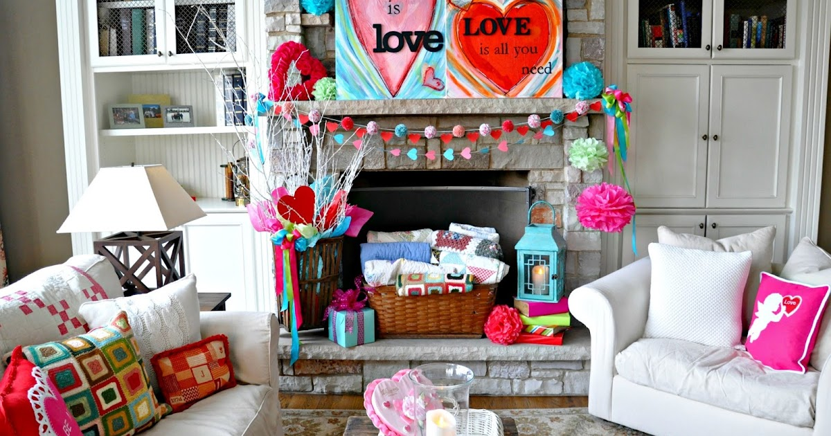Serendipity refined blog valentines day mantel easy - Valentine day room decoration ...