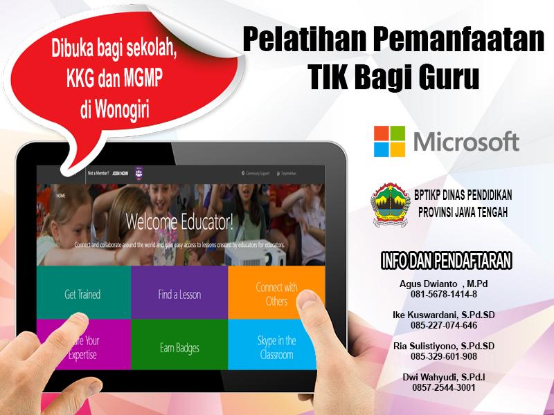 Microsoft Buka Pendaftaran Pelatihan TIK Bagi Guru Wonogiri, Inilah Prosedurnya!