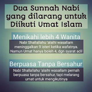 Berpuasa tanpa bersahur Termasuk Sunnah  dilarang diikuti umatnya