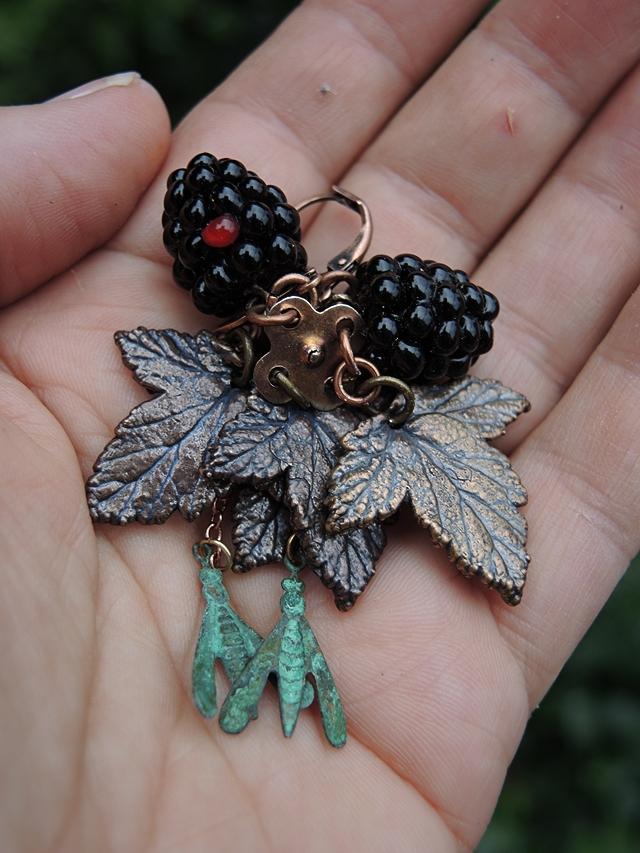 diy oorbellen/earrings 'bramentijd'