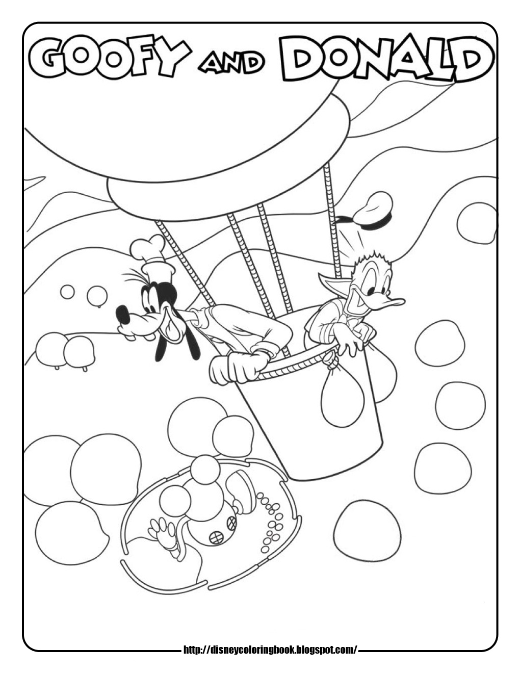 Mickey Mouse Clubhouse 3: Free Disney Coloring Sheets