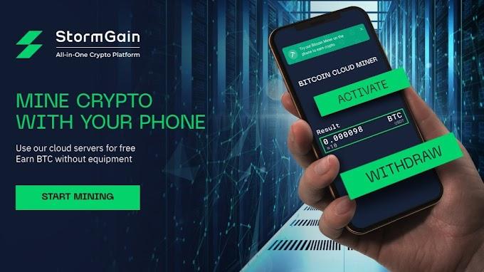 Hướng dẫn khai thác Bitcoin miễn phí sàn StormGain