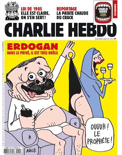 شارلی ئیبدۆ ئەردۆگانی کردووە بە کاریکاتێر