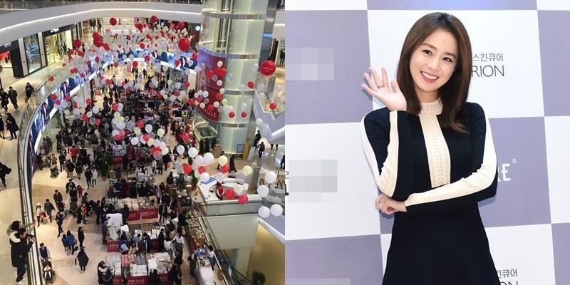 Kim Tae Hee khiến dân tình trung tâm mua sắm náo loạn vì quá đẹp