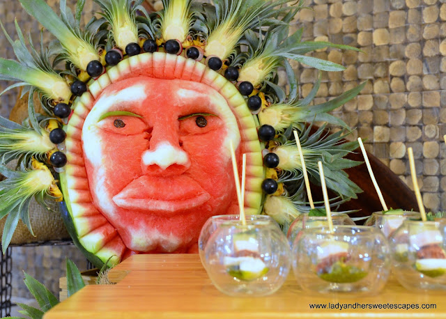 tropical vibe at Lapita's Daycation Brunch