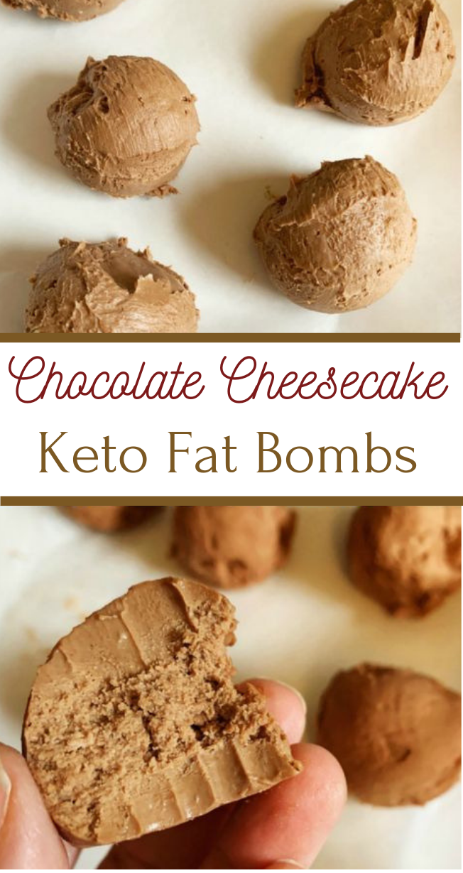 CHOCOLATE CHEESECAKE KETO FAT BOMBS #chocolate #cake