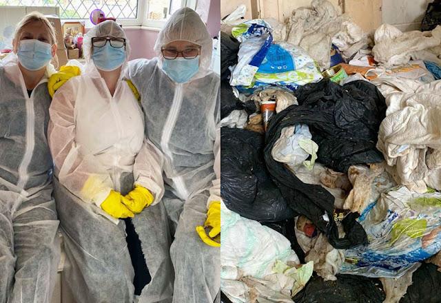 60-летняя старушка превратила свой дом в мусорку, скопив там почти 27 тонн мусора за несколько лет