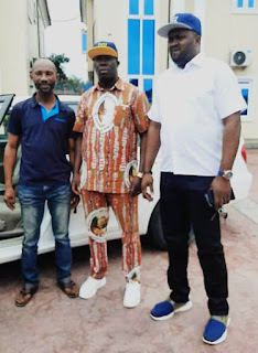 NEWS: GOVERNOR UDOM EMMANUEL GIFTS CAR TO POPULAR COMEDIAN (See Photos)