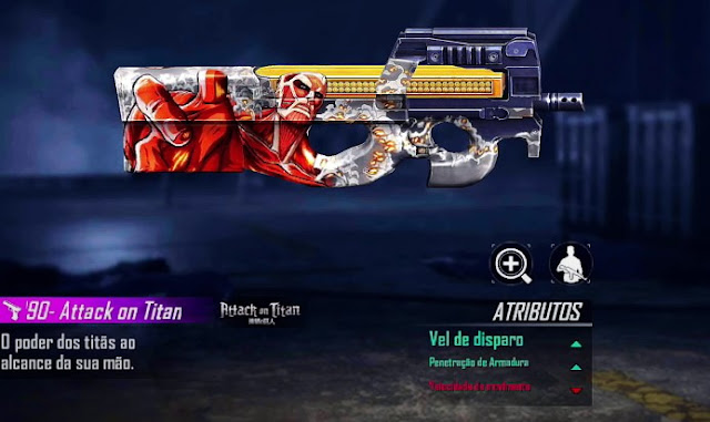 p90 attack on titan Free Fire