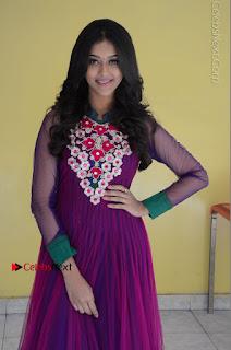 Actress Pooja Jhaveri Latest Stills in Purple Salwar Kameezt at Dwaraka Success Meet  0042.JPG