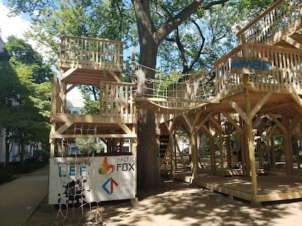 two storey wooden structure