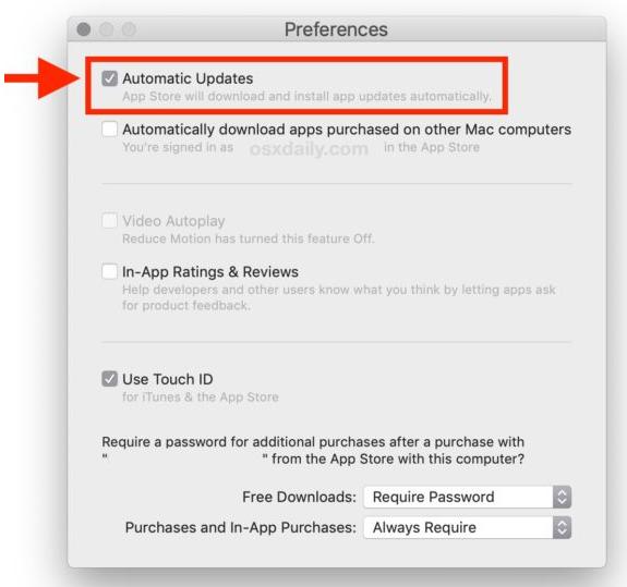 Cara Mengaktifkan Pembaruan Aplikasi Otomatis di macOS Mojave