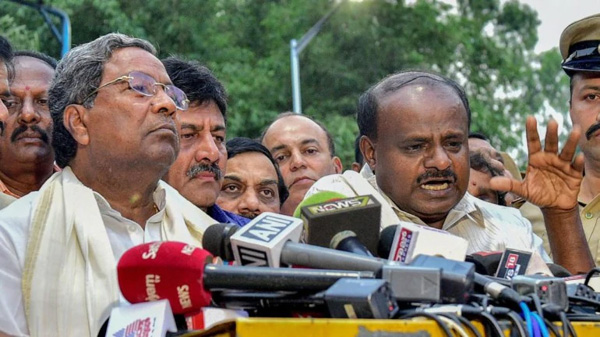 Former Karnataka CMs Siddaramaiah, Kumaraswamy booked for sedition, defamation, Bangalore, News, Politics, Karnataka, Lok Sabha, Election, Case, Protesters, Police, National
